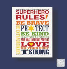 superhero rules canvas print kid s