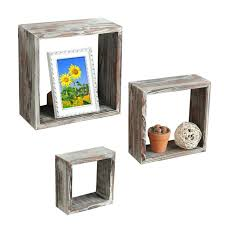 square floating shelf set of 3 brown torched wood finish wall mounted square floating shelf display square floating shelf