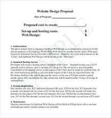 Website Design Proposal Template Delectable Simple Web Design Proposal Luxury Ultimate Website Proposal Template