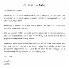 Letter Format Templates Cool Recommendation Letter Format For Job Employee Templates Hr Template