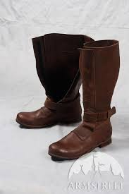 mens high leather boots in renaissance style image 0