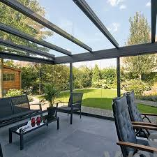 inside view anthracite grey framed garden glass room