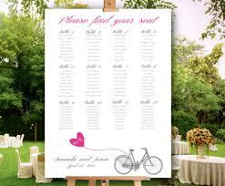 Printable Wedding Seating Chart Bicycle Wedding Seating