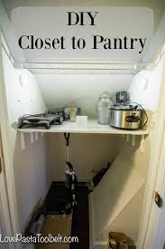 add more storage space with a diy closet to pantry project love pasta and