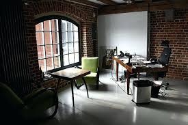 brick office furniture. Marvellous Home Office Interior Design Ideas I Love The Brick Walls And Window Furniture Desk G