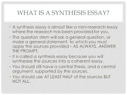 elements of a synthesis essay first of all good writing is good  what is a synthesis essay