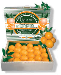 outstanding gift box of organic california valencia oranges
