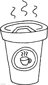 Coffee Cup Coloring Pages At Getdrawingscom Free For Personal Use