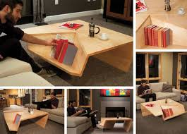 37 breakfast nooks that'll make every morning a little sunnier. Nook Coffee Table Sports An Oddly Shaped Bookshelf Corner