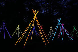 garden party lighting ideas. coloured stick light teepee great ideas for garden party decorations table settings lighting g