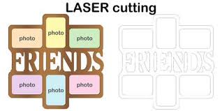 <b>Frame</b> For <b>Photos</b> With Inscription 'Friends' For Laser Cutting ...