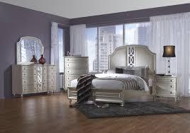 Mirrored Bedroom Suite Upholstered Bedroom Set Platinum Mirrored King Bed Complete Set