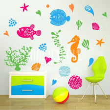 sea wall decals also under the sea marine life wall decals stickers large sea turtle wall decal dag