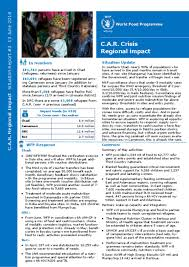 Situation Report Document WFP CAR Regional Impact Situation Report 24 24