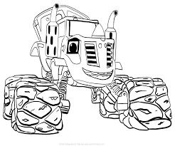 Blaze And The Monster Machines Coloring Pages Cool Images Blaze