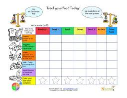 Tracking Meals Chart Printable Write In Food Daily Tracking Sheet