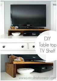 diy tv shelf how to make a shelf for on top of your dresser or console diy tv shelf