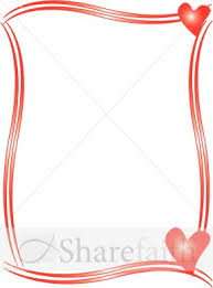 Microsoft Word Hearts Two Red Hearts Border Hearts And Valentine Borders