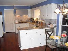 Kitchen:Terrific U Shaped White Wood Kitchen Laundry Cabinet Combined Black  Countertop With White Wood