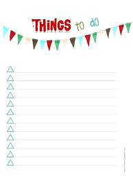 Things To Do List Template Printable Creative Writing Checklist