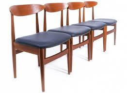 set of 4 danish dining chairs 1960s
