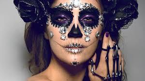 here diamond sugar skull makeup