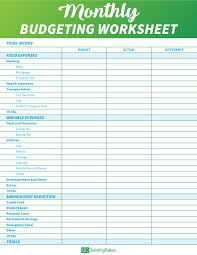 Budgeting Worksheets Mobile Discoveries
