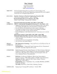 Electrical Engineer Resume Template Fresh 28 Entry Level Electrical