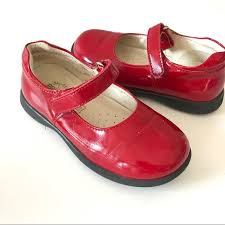 Primigi Girls Red Patent Shiny Mary Jane Shoes 28