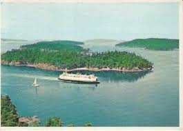 Unused Postcard Washington State Ferry in Puget Sound color by ...