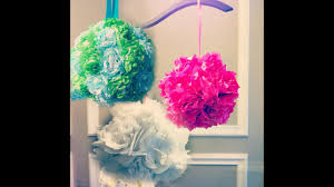 Diy Flower Balls Tissue Paper Tissue Paper Pomanders How To Make Flower Balls Diy Wedding Decorations