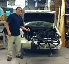 wheelchair lift for car. Photo Of James Somers Operating The Wheelchair Lift With One Hand. For Car