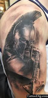 Spartan Warrior 300 Shoulder Tattoo 3d I Would Like To Get This To