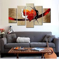 Us 6534 34 Offhand Bemalt Abstrakten Moderne ölgemälde Auf Leinwand Mann Und Frau Konzentrischen Wandbilder Schlafzimmer Wohnzimmer Wohnkultur