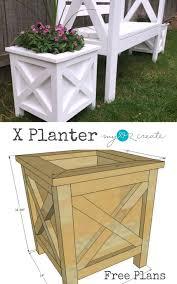 diy x planter box