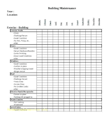 Facilities Maintenance Schedule Template Planned Preventive