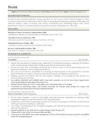 Mba Resume Sample Resume For Study