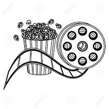ポップのトウモロコシおよび映画生産のクリップアートのアイコンベクトル Illustraction