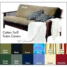 denim futon covers brushed cotton twill cover twin size pad real queen den fur futon mattress covers