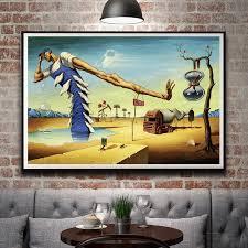 abstract painting salvador dali surreal artwork vintage art silk poster home decor 12x18 16x24 20x30 24x36