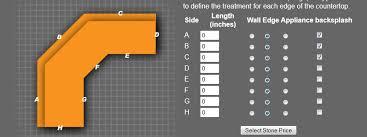 countertop calculator estimate granite countertop estimate
