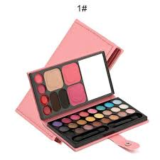 33 colors professional eyeshadow matte shimmer palette with brush makeup kit la mei la