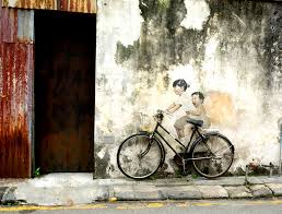 penang s famous street art the original six wall murals created by zacharevic that were featured in george town festival in 2012 which is an annual month  on famous wall art in penang with penang s famous street art where to find street art in george town