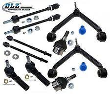 Dlz 10 Front Suspension Kit 2 Upper Control Arm Ball Joint Assembly 2 Lower Ball Joint 2 Inner 2 Outer Tie Rod End 2 Sway Dodge Ram Dodge Ram 1500 Ram 1500
