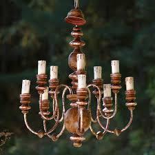 Haengelampe Luster Leuchter Shabby Chic Landhausstil Metall Holz