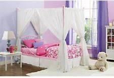 Teen bedroom furniture Twin Size Metal Canopy Bed Frame Bedroom Furniture Room Kids Girls Teen Pink New Wristbandmalaysiainfo Teen Bedroom Furniture Ebay