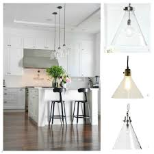 Clear Glass Pendant Lights For Kitchen Island Clear Glass Pendant Light Katinabagscom