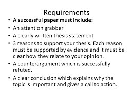 Thesis Essay Example Argumentative Essay Example Resume Tutorial Pro