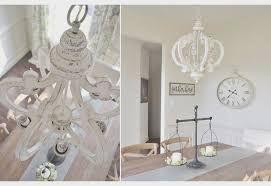 distressed white wood chandelier