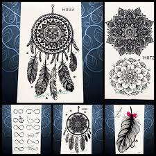 Hot Prodej Dočasné Tetování Nálepka černá Dreamcatcher Tetování